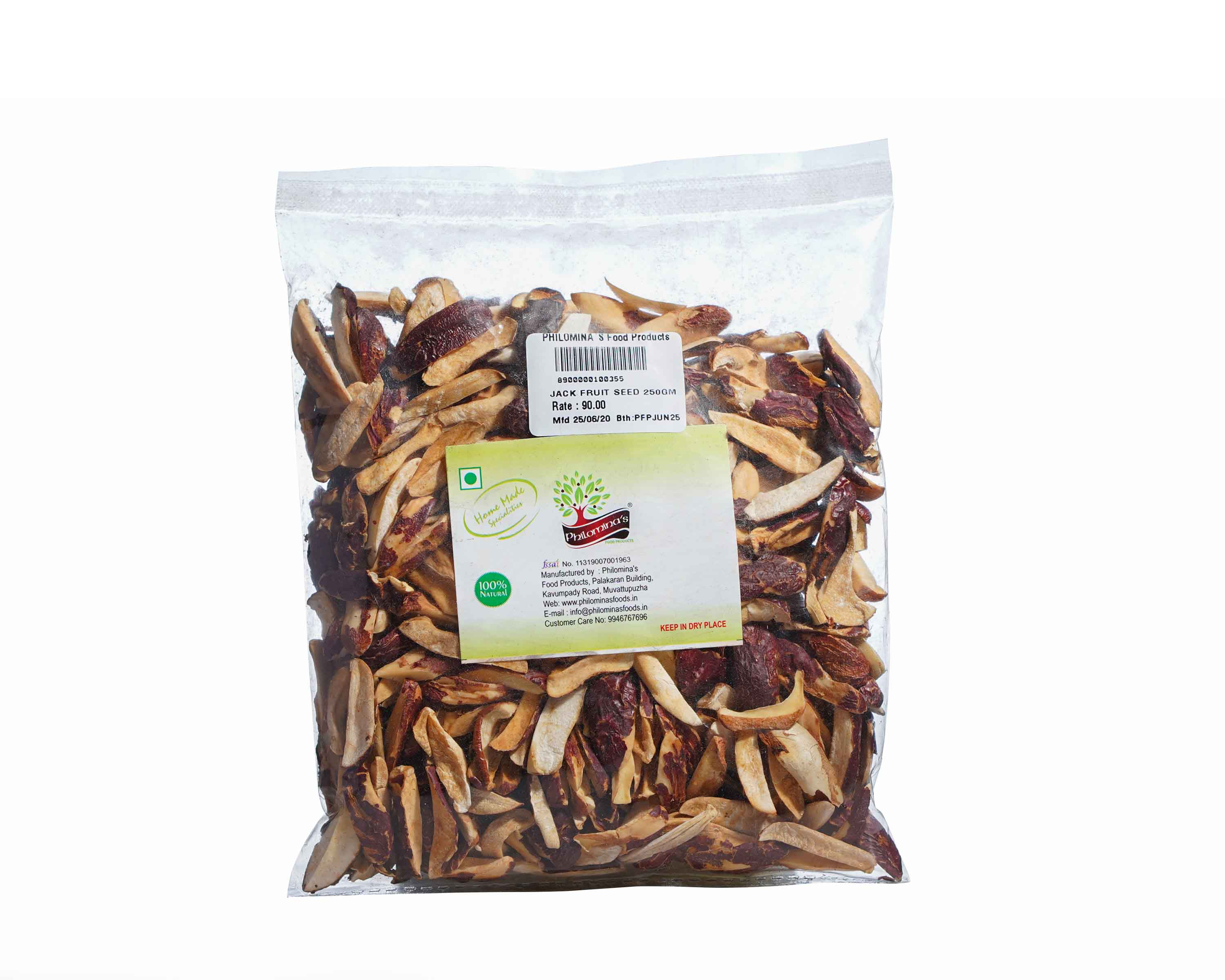 Dried jack seed sliced 250gm