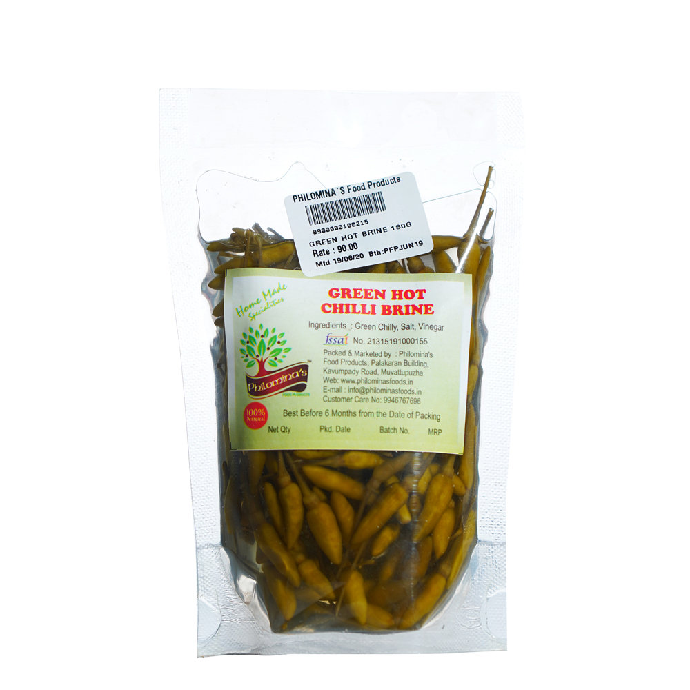 Green Hot Chilli Brine - 180gm
